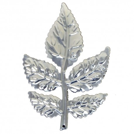 Rose Leaves - Silver (8cm long, 6 pcs per pk)