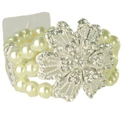 Vintage Beauty Corsage Bracelet - Cream