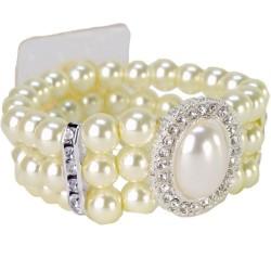 Vintage Pearl Corsage Bracelet - Cream