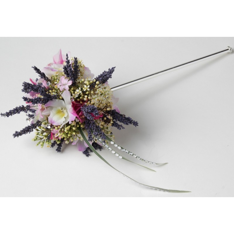Lotus Wand Silver 35cm Long Corsage Creations