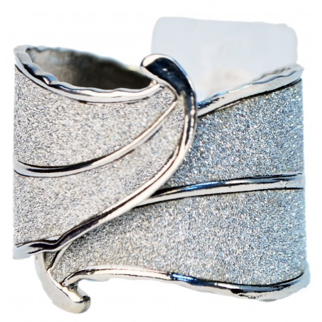 Beverly Hills Corsage Cuff - Silver