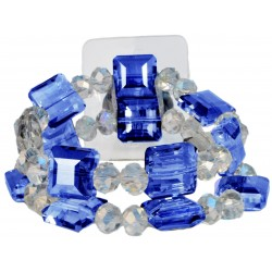 Block Party Corsage Bracelet - Blue