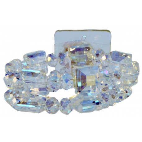 Block Party Corsage Bracelet - Clear