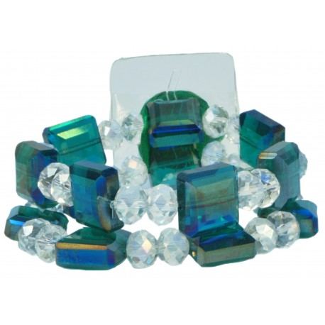 Block Party Corsage Bracelet - Green