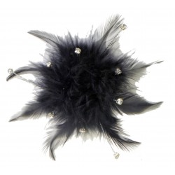 Cloud 9 Feather Accents - Black (7cm Diameter)