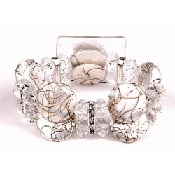 When in Rome Corsage Bracelet - White