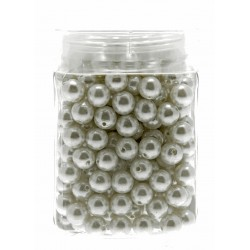 12mm Pearl - White (150g, Approx 179 Pcs Per Pk)
