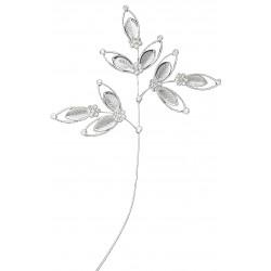 Spectacular Leaf Spray - Silver (24cm long)