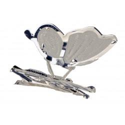 Wings Butterfly Clip - Silver (6 Per PK, 4cm)