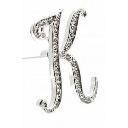 Monogram Letters K - Silver