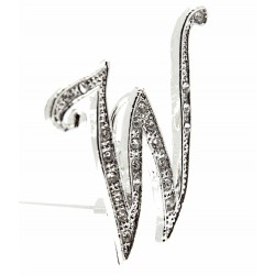 Monogram Letters W - Silver