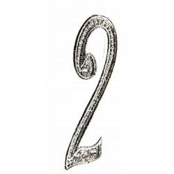 Monogram Numbers 2 - Silver