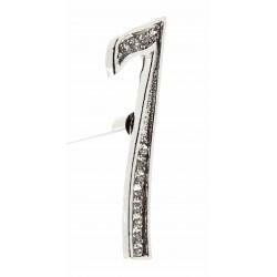 Monogram Numbers 7 - Silver