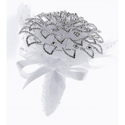 Fancy Brooch Bouquet Elegant - Silver