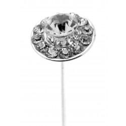 Kara's Kisses - Razzle Silver Floral Pick (1cm Diameter, 3 pieces per pack)