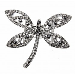 Silver Dragonfly Bouquet Buckle