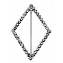 Silver Diamond Bouquet Buckle