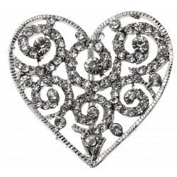 Silver Heart Bouquet Buckle