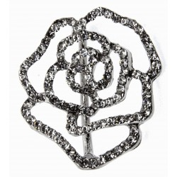 Silver Rose Bouquet Buckle