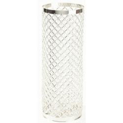 Silver & Crystal Column - Silver (90cm)