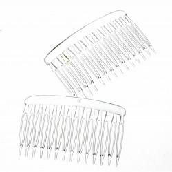 Chelsea Hair Comb - Clear (12 pcs per pk)
