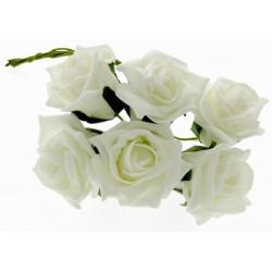 8cm Rose Bunch - Cream (6pcs per bunch)
