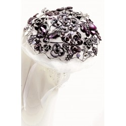 Fancy Brooch Bouquet Everlasting - Purple