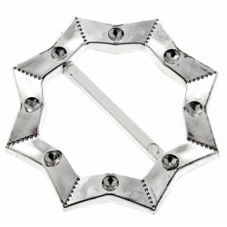 Rugged Beauty Buckle - Silver (7cm diameter, 6 pcs per pk)