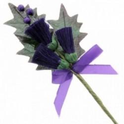Small Thistle Corsage - Purple (6pcs per pk)