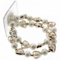 Open Your Heart Corsage Bracelet - Cream
