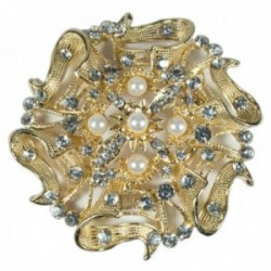 Buttons & Bows Chair Back Brooch - Gold (8.5cm Diameter)