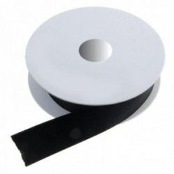 25mm Double Faced Satin - Black (25mm x 20m)