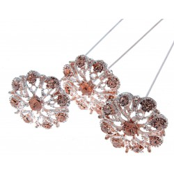 Princess Brooches Aurora - Rose Gold (2.5cm Diameter, 3pcs per pk)