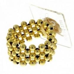 Little Lady Kids Corsage Bracelet - Gold (6cm Diameter, 2pcs per pk)