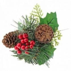 Natural Pine Cone Christmas Pick - Natural (6pcs per pk, 20cm Long)