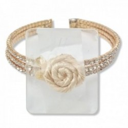 All That Jazz Corsage Bracelet - Gold