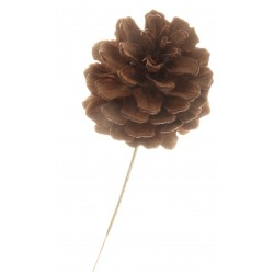 5cm Pine Cone Picks - Natural (5cm pine cone on a 13cm pick, 12 pcs per pk)