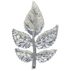 Rose Leaves - Silver (8cm long, 6 pcs per pk)