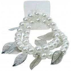 Breezy Corsage Bracelet - White