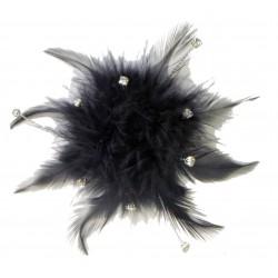 Cloud 9 Feather Accents - Black (7cm Diameter)